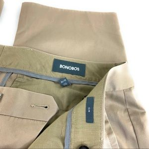 Bonobos Pants - 33x32 Bonobos Wednesday Khaki Trousers in Slim Fit
